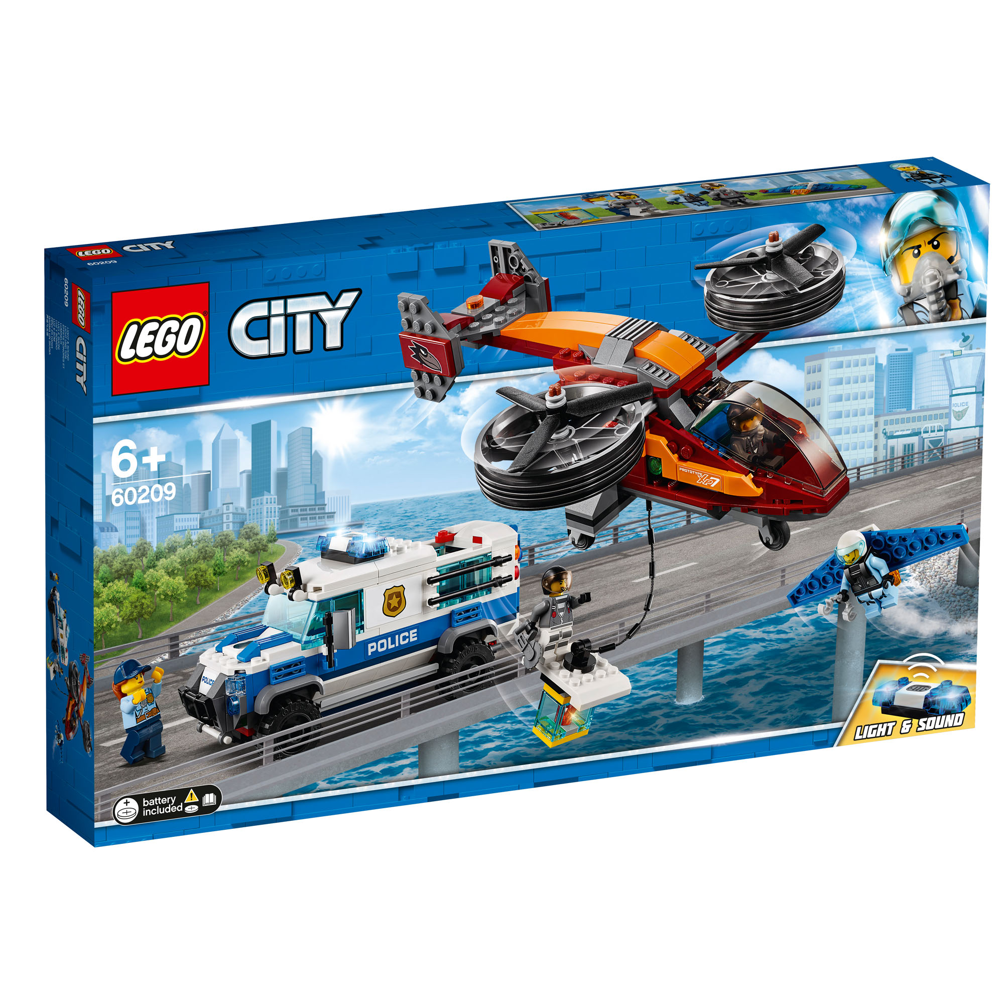 Details about 60209 LEGO CITY Sky Police Diamond Heist 400 Pieces Age 6+  New Release for 2019!