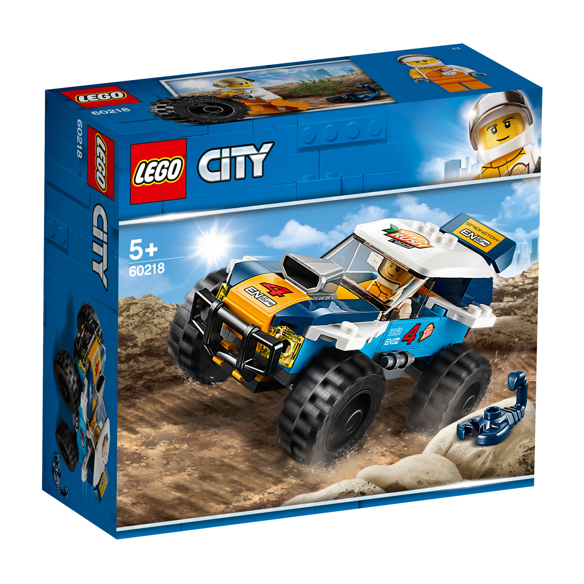 Details about 60218 LEGO CITY Desert Rally Racer 75 Pieces Age 5+ New Release for 2019!