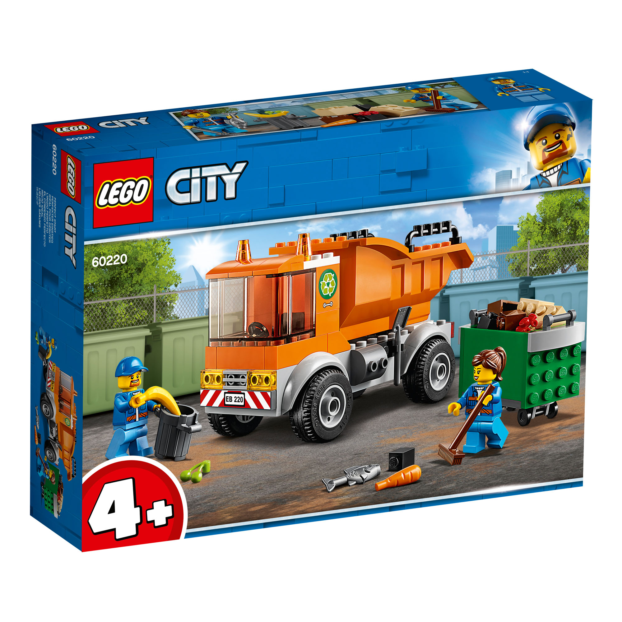 60220 LEGO CITY Garbage Truck 90 Pieces Age 4 New Release for 2019!