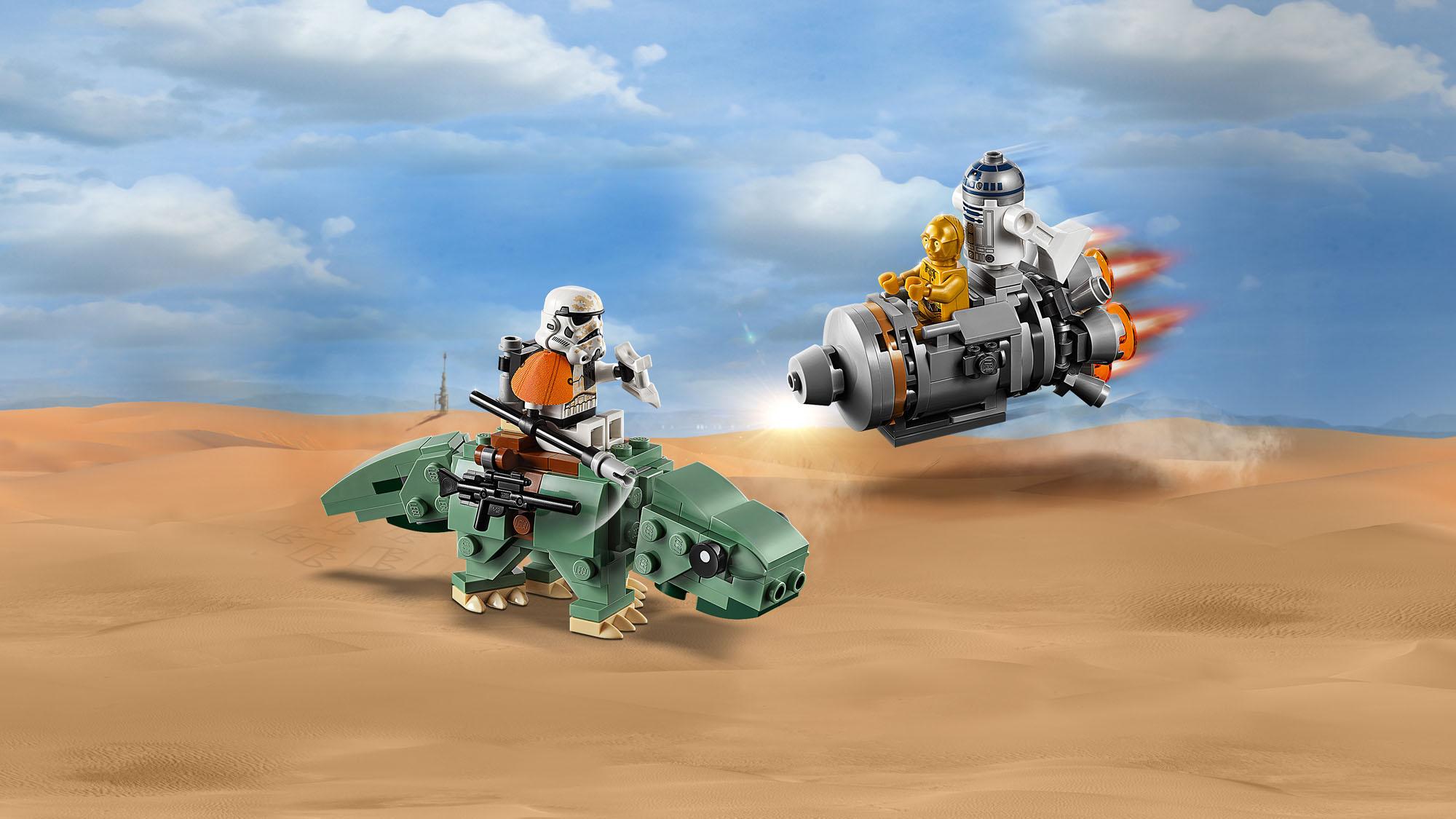 75228 LEGO Star Wars Escape Pod vs Dewback Microfighters 177pcs Age 6 New 2019