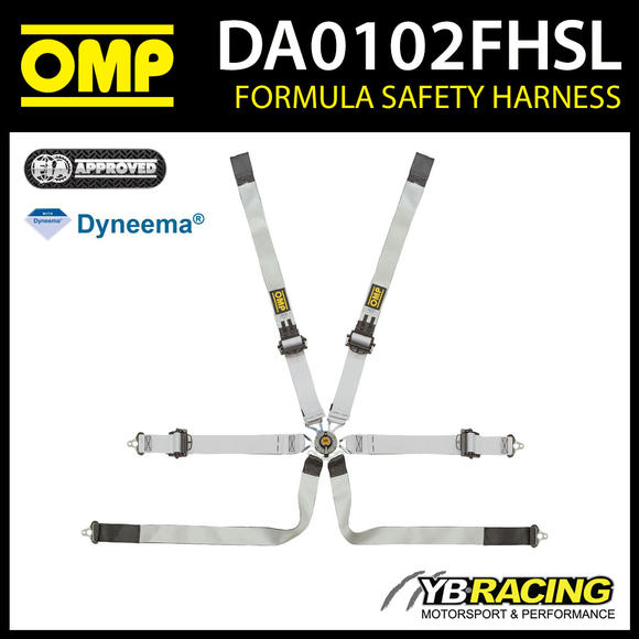 DA0102FHSL OMP DYNEEMA FIA PROFESSIONAL SAFETY HARNESS 6-POINT SALOON FHR ONLY