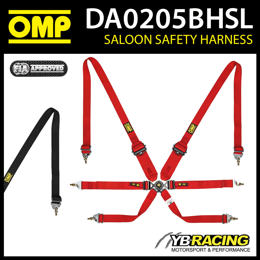 DA0205BHSL OMP RACING SAFETY HARNESS PULL DOWN ENDURANCE TYPE FHR FIA 8853-2016