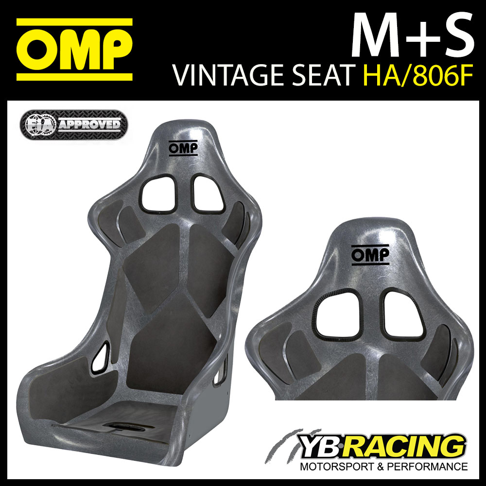 HA/806F/N OMP OFF-ROAD RACING RALLY SEAT FIA 8855-1999 LIGHTWEIGHT FIBREGLASS
