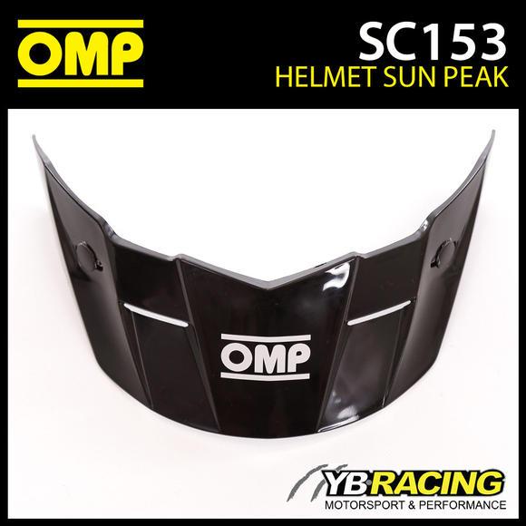 SC153 OMP Black Sun Peak Visor fits OMP SC607E STAR Helmet - Genuine Spare Part