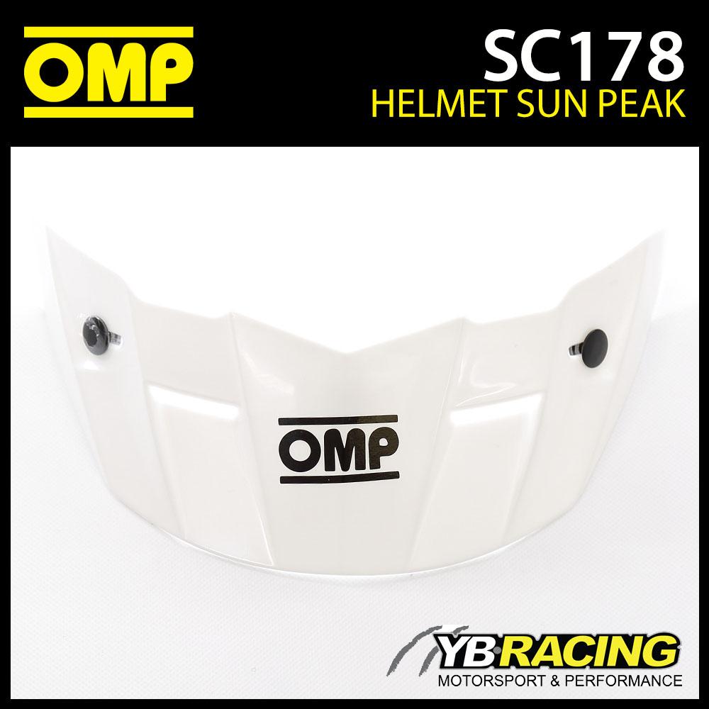 SC178 OMP White Sun Peak Visor fits OMP SC607E STAR Helmet - Genuine Spare Part