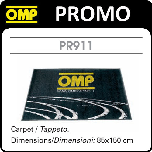 PR911 OMP DEALER CARPET ENTRANCE SHOW MAT 85x150cm NEW! OFFICE/WORK/GARAGE