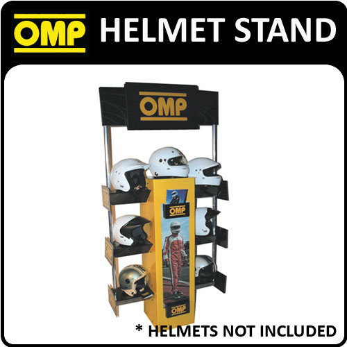 PR914 OMP RACING HELMET DISPLAY STAND TO FIT 7 OMP HELMET - MOTORSPORT EVENTS!