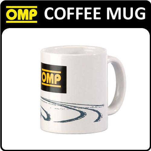 PR910 OMP RACING RALLY FAN WHITE COFFEE MUG NEW! HOME/OFFICE/WORK OMP LOGO!