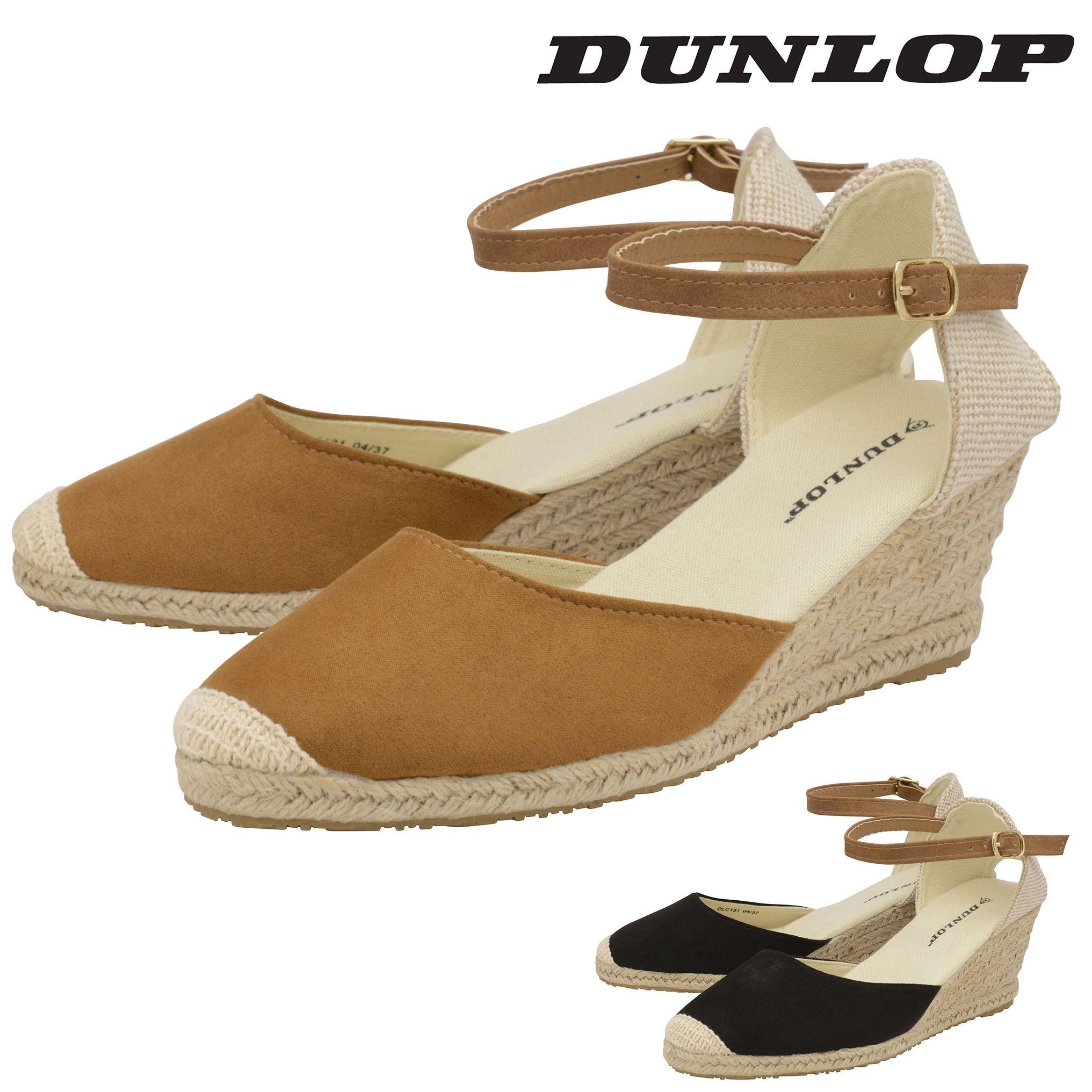 Ladies Women Low Heel Wedge Summer Sandal Buckle Strap Espadrilles Shoe Size 3-8
