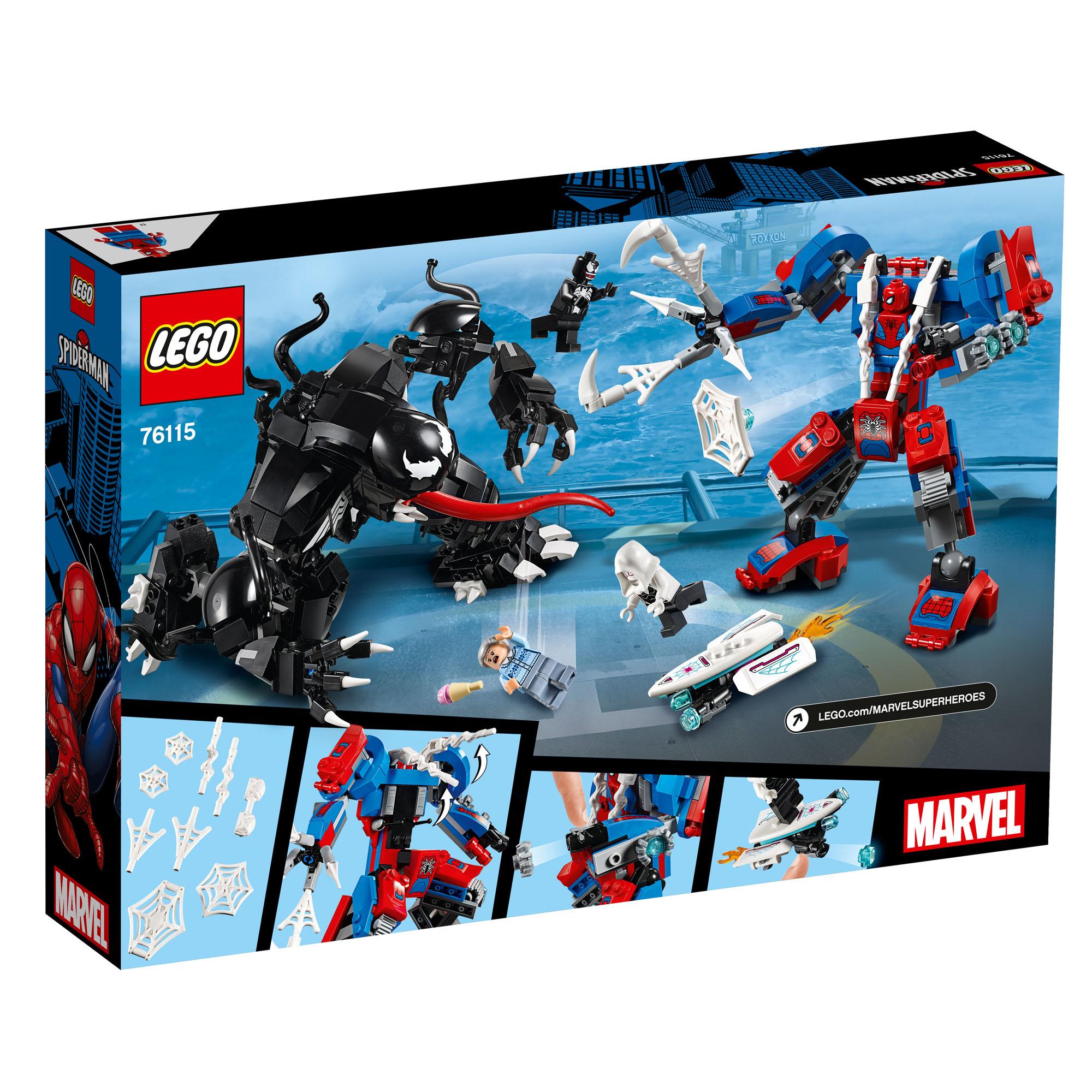 76115 LEGO Marvel Comics Super Heroes Spider Mech vs Venom 604 Pieces Age 8+