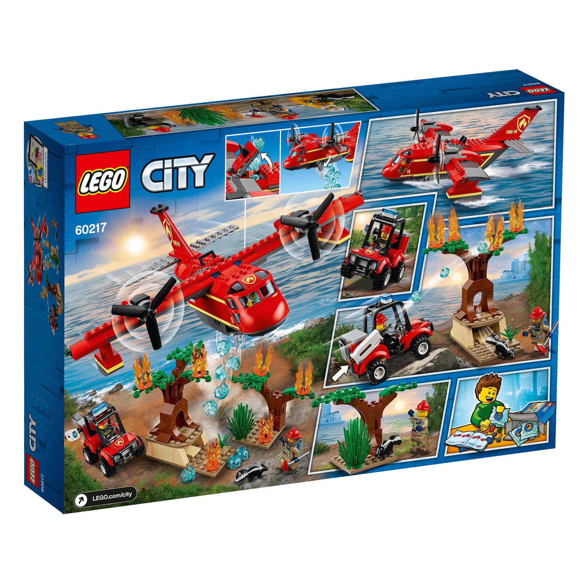 60217 LEGO CITY Fire Plane & Jeep Buggy Set 363 Pieces Age ...