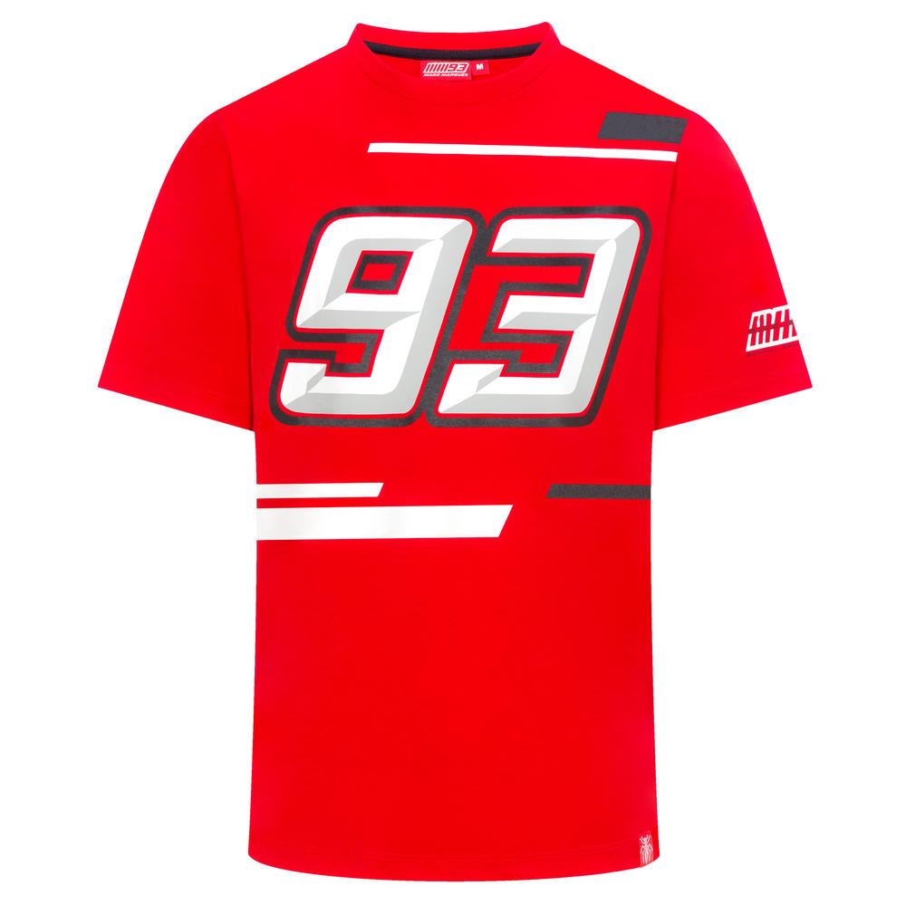 2019 Marc Marquez MotoGP Mens 93 Logo T-Shirt Red 100% Cotton Tee Sizes S-XXXL