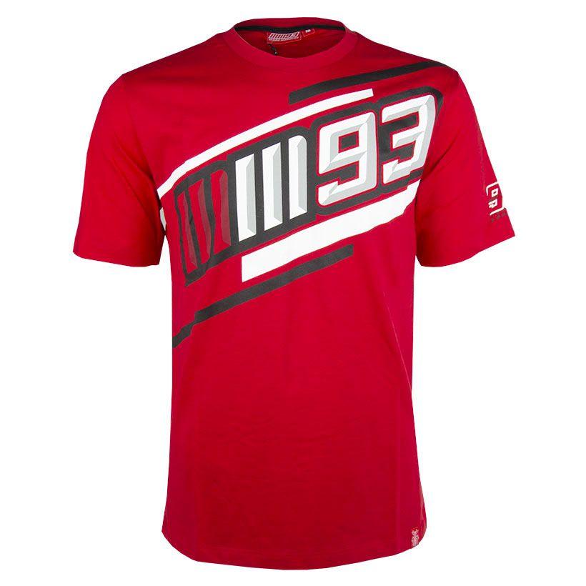 2019 Marc Marquez MotoGP Mens 93 T-Shirt Red 100% Cotton Official Sizes S-XXXL