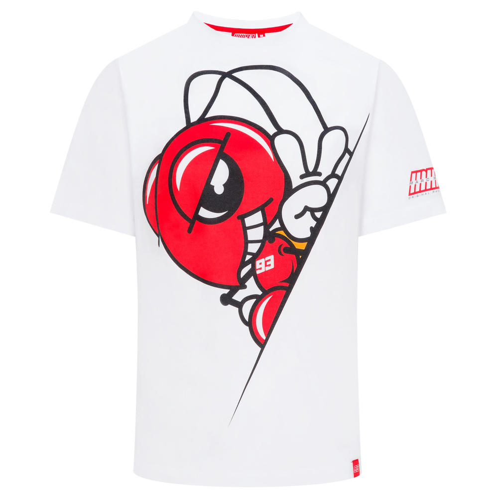 2019 Marc Marquez MotoGP Mens 93 T-Shirt White Ant Inside 100% Cotton