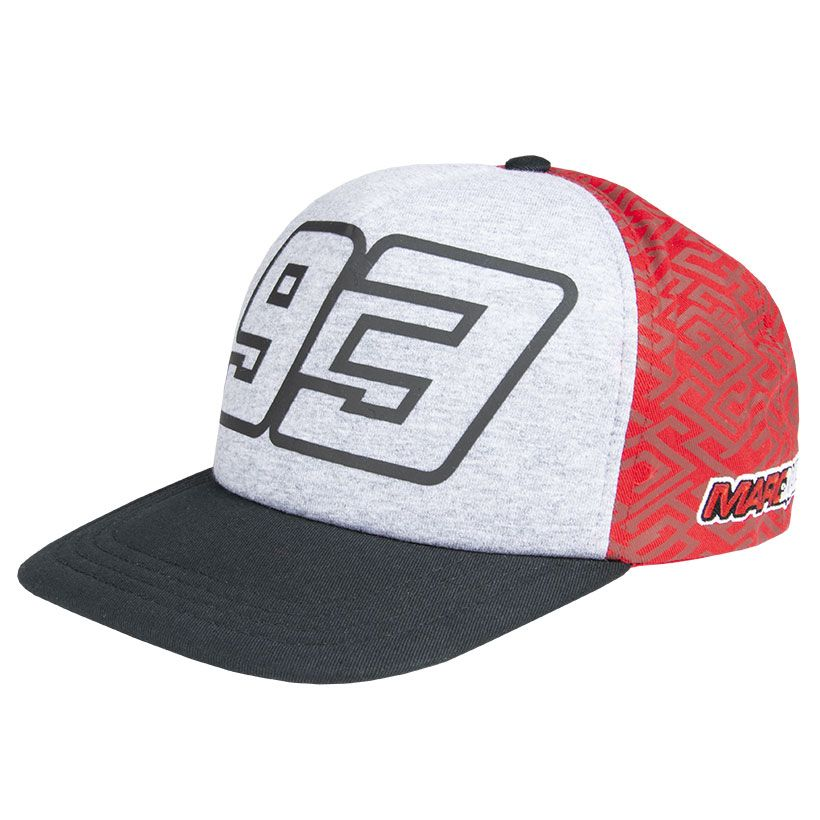 2019 Marc Marquez #93 MotoGP Trucker Style Baseball Cap Grey Red Adult One Size