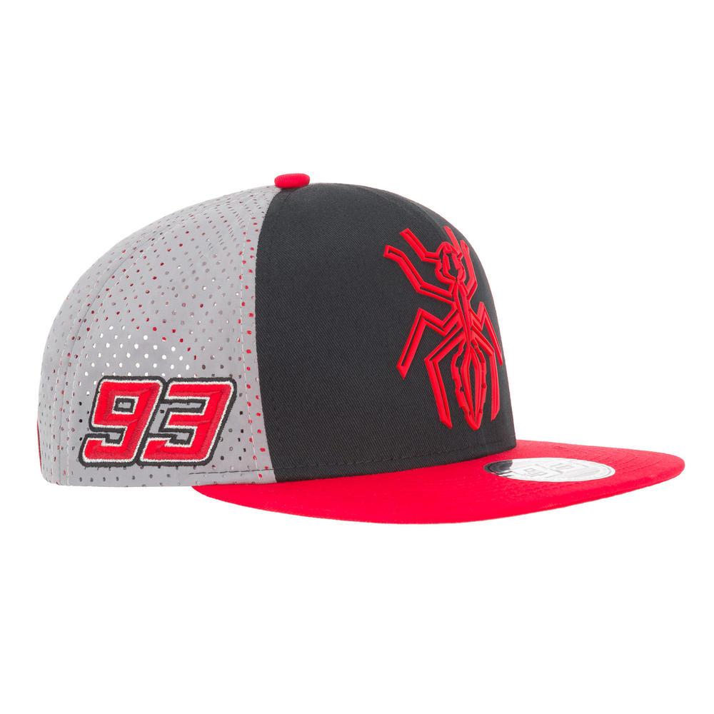 2019 Marc Marquez #93 MotoGP Trucker Style Baseball Cap Ant Logo Grey Adult