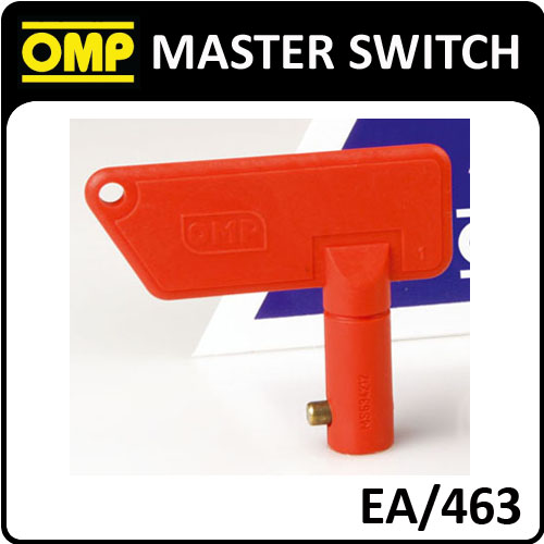EA/463 OMP SPARE RED KEY FOR OMP EA/460 MASTER SWITCH