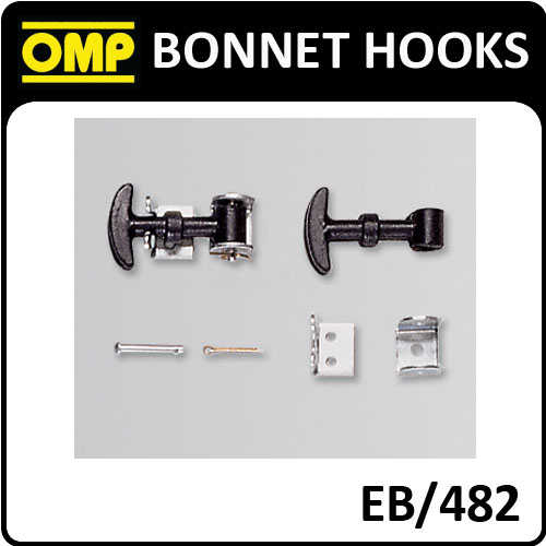 EB/482 OMP RACING BONNET SECURING SMALL RUBBER HOOK SET - IDEAL FOR CLASSIC CARS