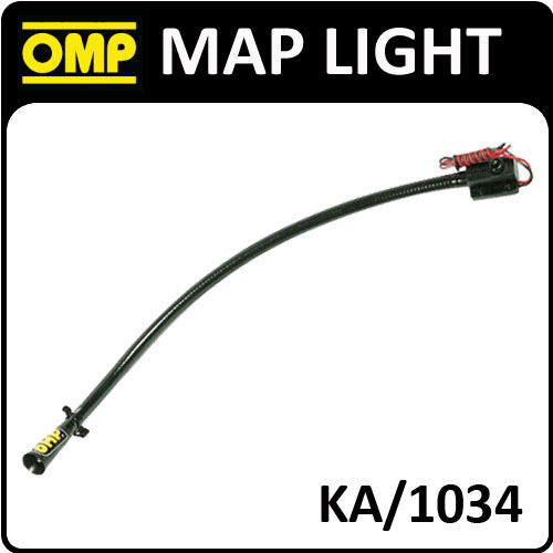 KA/1034 OMP PROFESSIONAL RALLY CO-DRIVER MAP LIGHT EXTRA RIGID 50cm 12v RALLY