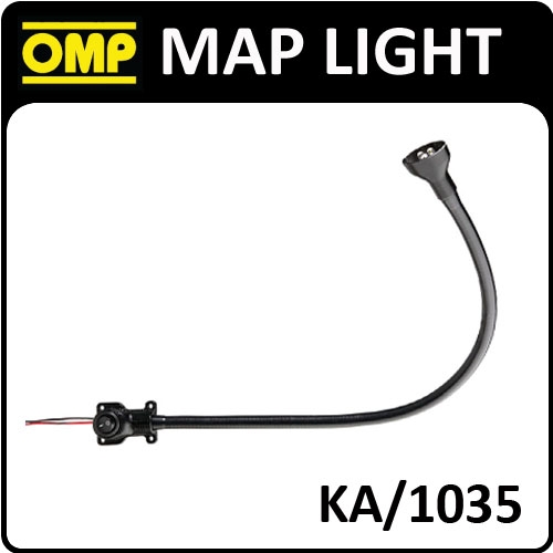 KA/1035 OMP PROFESSIONAL 50cm CO-DRIVER MAP LIGHT with FLEXIBLE LED HEAD! NEW!