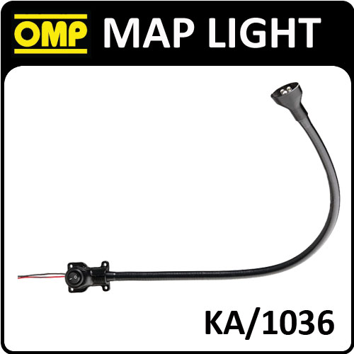 KA/1036 OMP PROFESSIONAL LED INTERIOR MAP LIGHT 40cm for CO-DRIVER NAVIGATOR NEW
