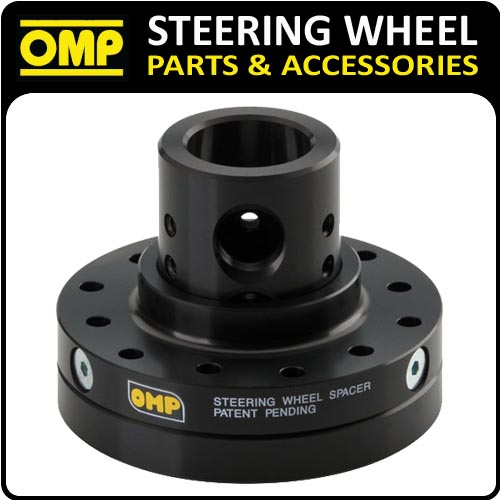 ODC022 OMP RACING ADJUSTABLE POSITION STEERING WHEEL SPACER - ANODIZED BLACK