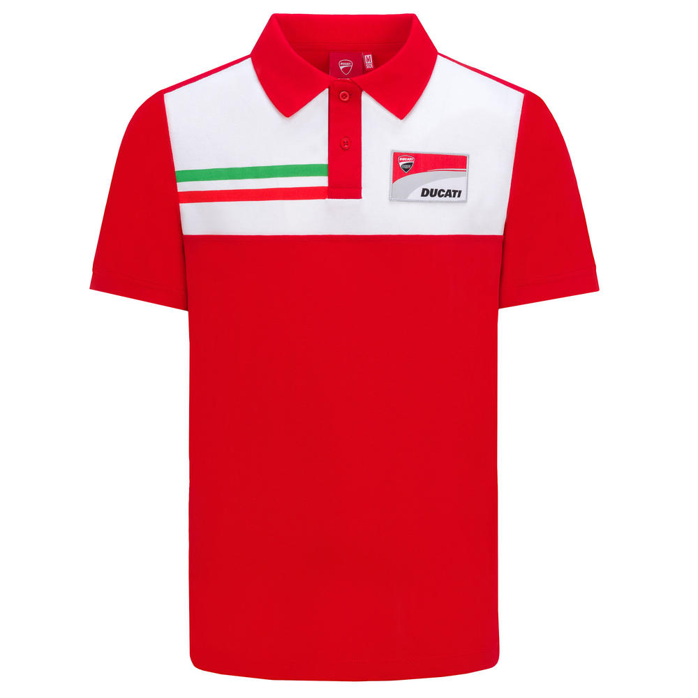 2019 Ducati Corse Racing MotoGP Mens Classic Polo Shirt 100% Cotton Red/White