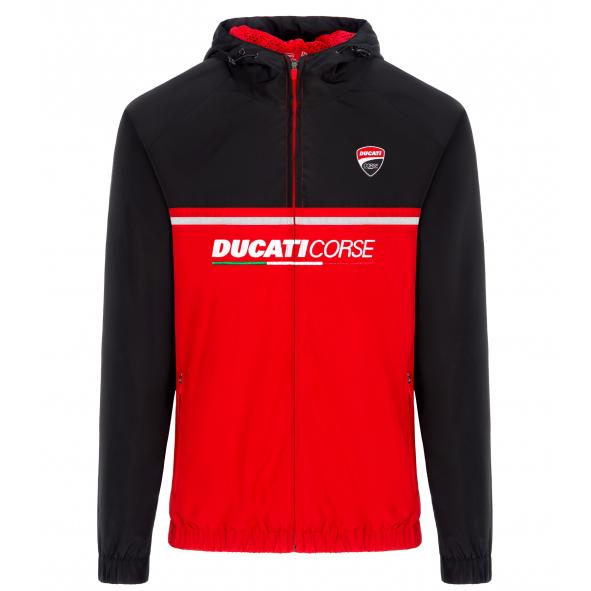 2019 Ducati Corse Racing MotoGP Mens Jacket Coat Zip Up Windproof Lightweight