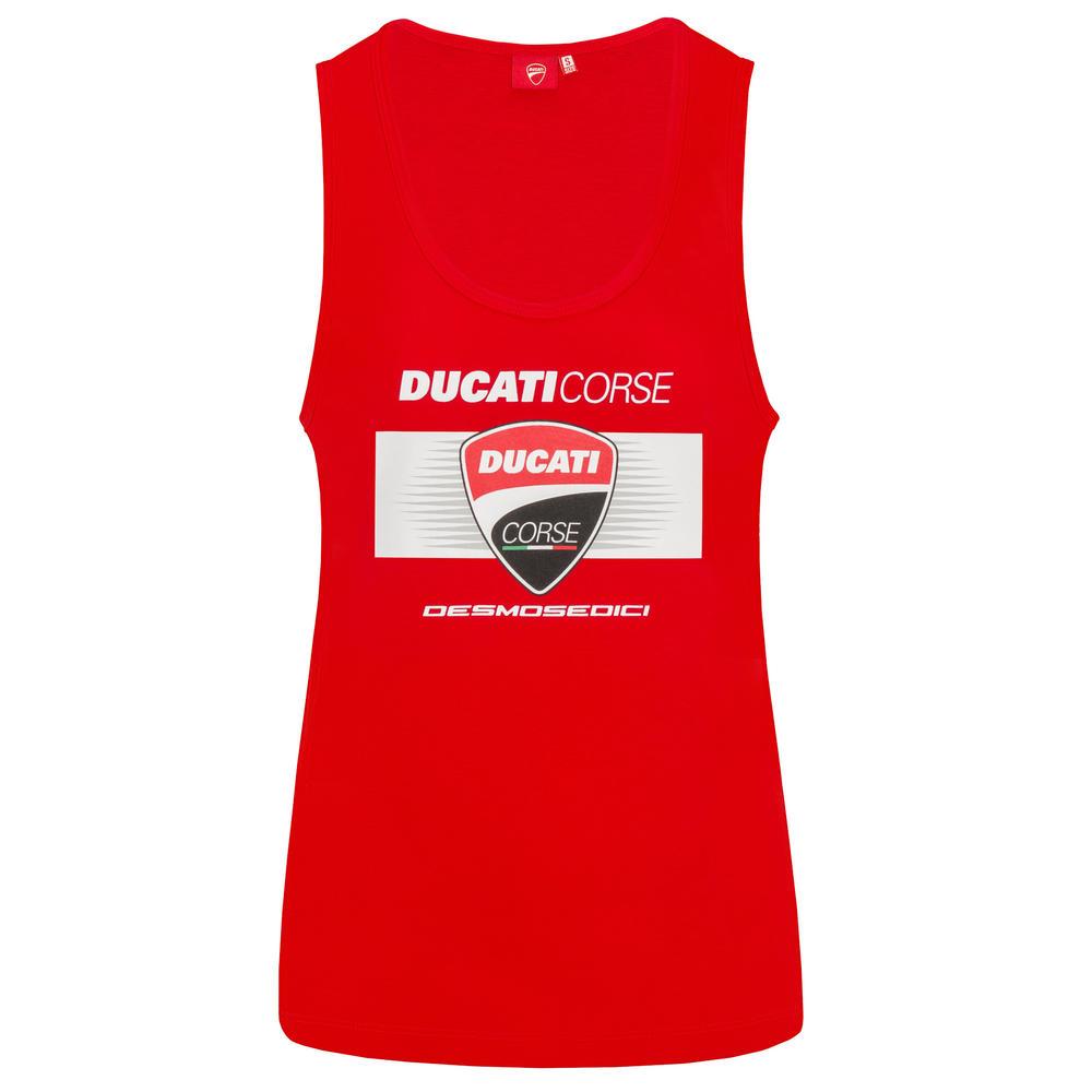 2019 Ducati Corse Racing MotoGP Ladies Tank Top Vest with DESMOSEDICI Logo