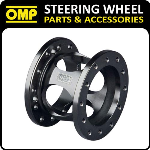 ODC023 OMP FIXED 60mm STEERING WHEEL SPACER BLACK ANODIZED ALUMINIUM