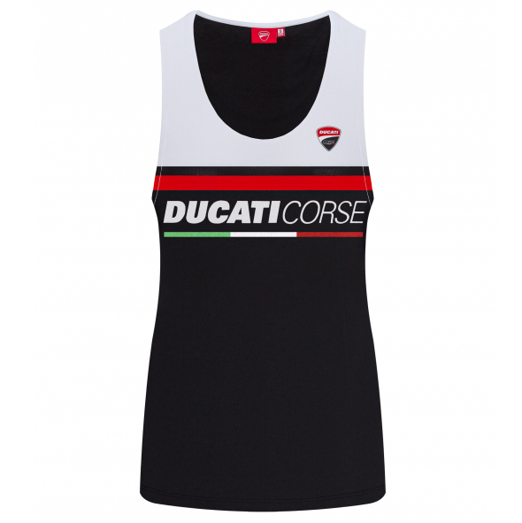 2019 Ducati Corse Racing MotoGP Ladies Sports Vest Top Cotton/Mesh Womens Girls