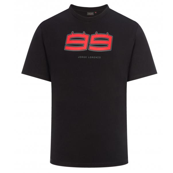 2019 Jorge Lorenzo 99 DIABLO Mens T-Shirt Black Official MotoGP Merchandise