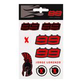 2019 Jorge Lorenzo #99 MotoGP Small Sticker Pack Decals x9 Official Merchandise