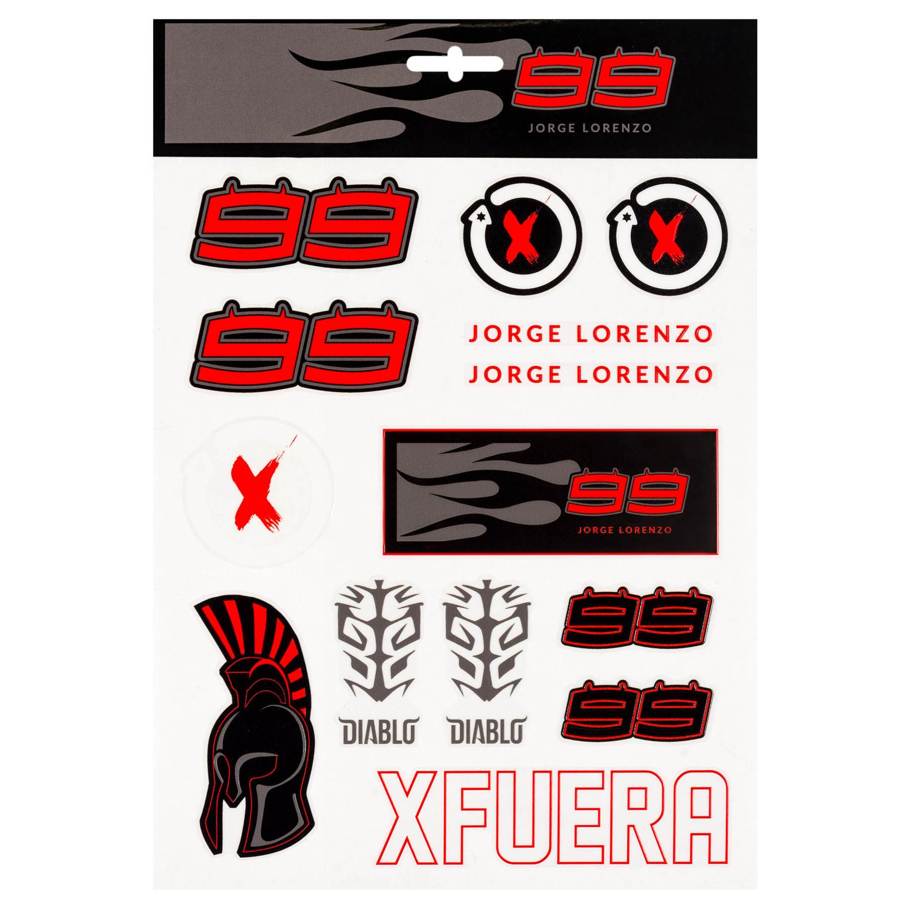 Details about 2019 jorge lorenzo 99 motogp large sticker pack decal x14 official merchandise