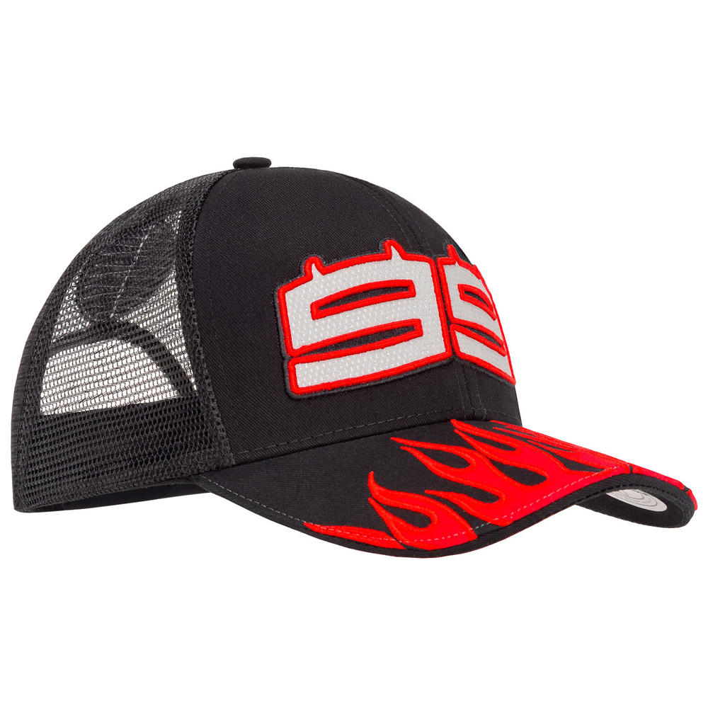 2019 Jorge Lorenzo 99 MotoGP Baseball Cap Trucker Hat Red Flames Adult One Size
