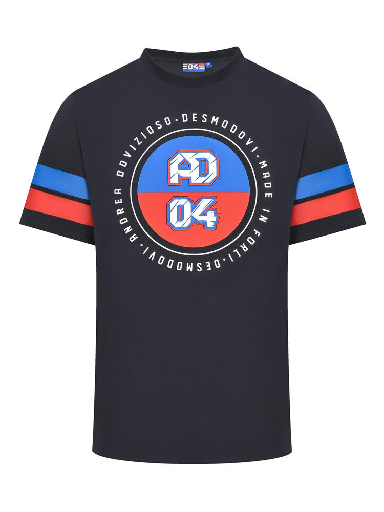 2019 Andrea Dovizioso AD #04 MotoGP Mens Grey T-Shirt Official Ducati Desmodovi