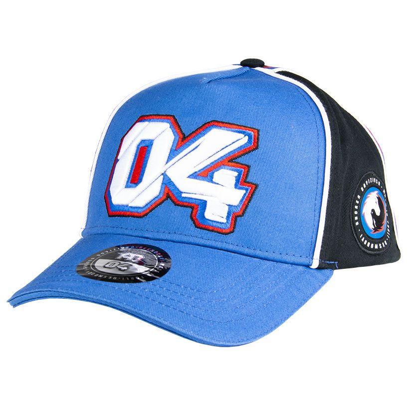 2019 Andrea Dovizioso 04 Blue/Grey Baseball Cap Trucker Official Ducati MotoGP
