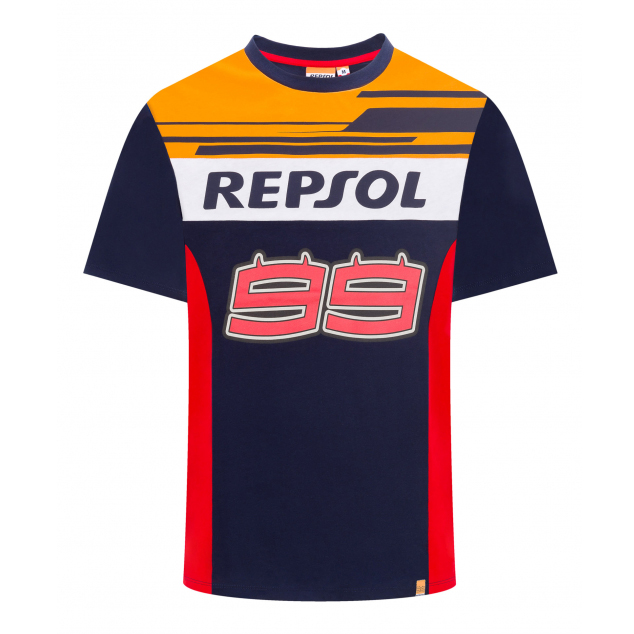 2019 Jorge Lorenzo #99 Official T-Shirt Blue/Red REPSOL RACING Team MotoGP