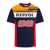 2019 Jorge Lorenzo #99 Official T-Shirt Blue/Red REPSOL RACING Team MotoGP