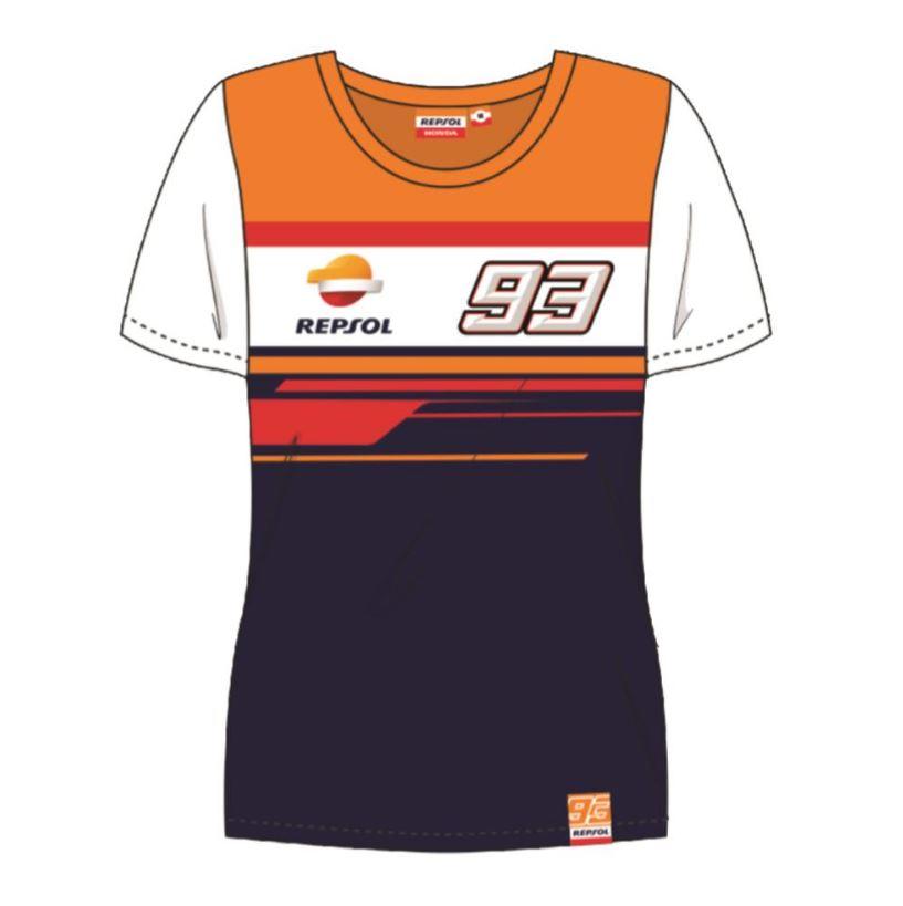 2019 Marc Marquez #93 Ladies T-Shirt Womens Repsol Honda Official Merchandise