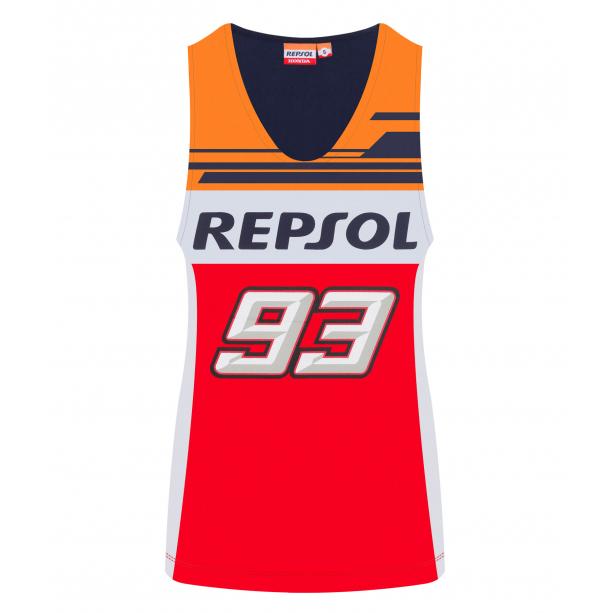2019 Marc Marquez #93 Ladies Vest Tank Top Womens Repsol Honda Merchandise