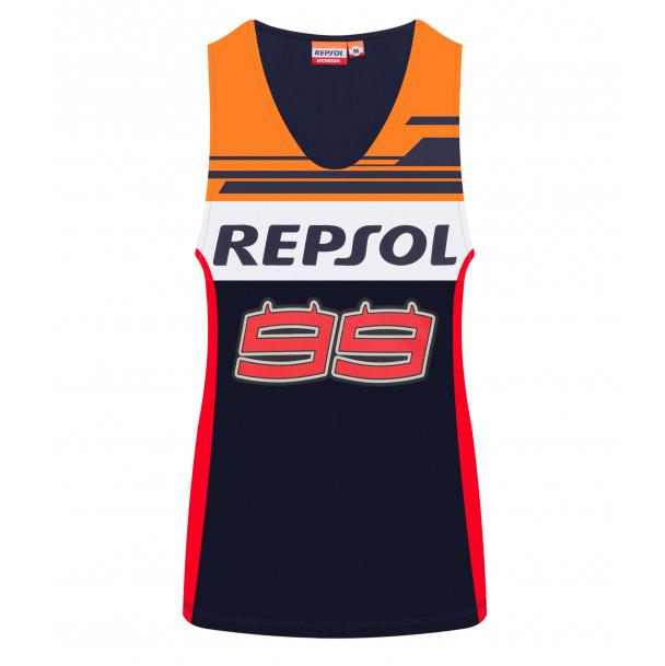 2019 Jorge Lorenzo #99 Ladies Vest Tank Top Womens Repsol Honda Race Merchandise