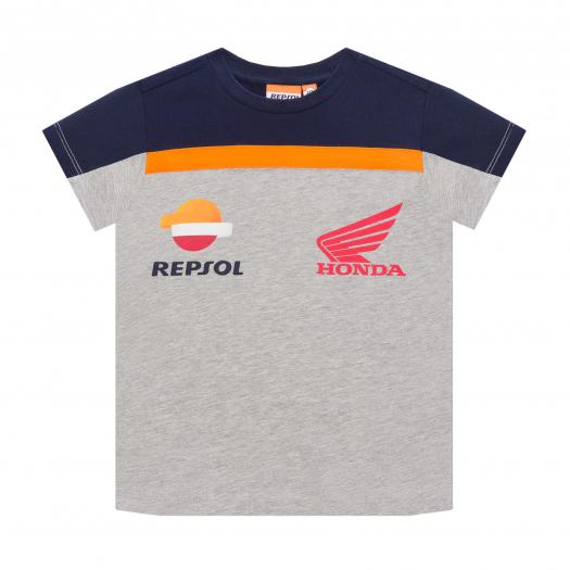 2019 REPSOL RACING MotoGP Kids T-Shirt Childrens Boys Grey Ages 2-11 Years