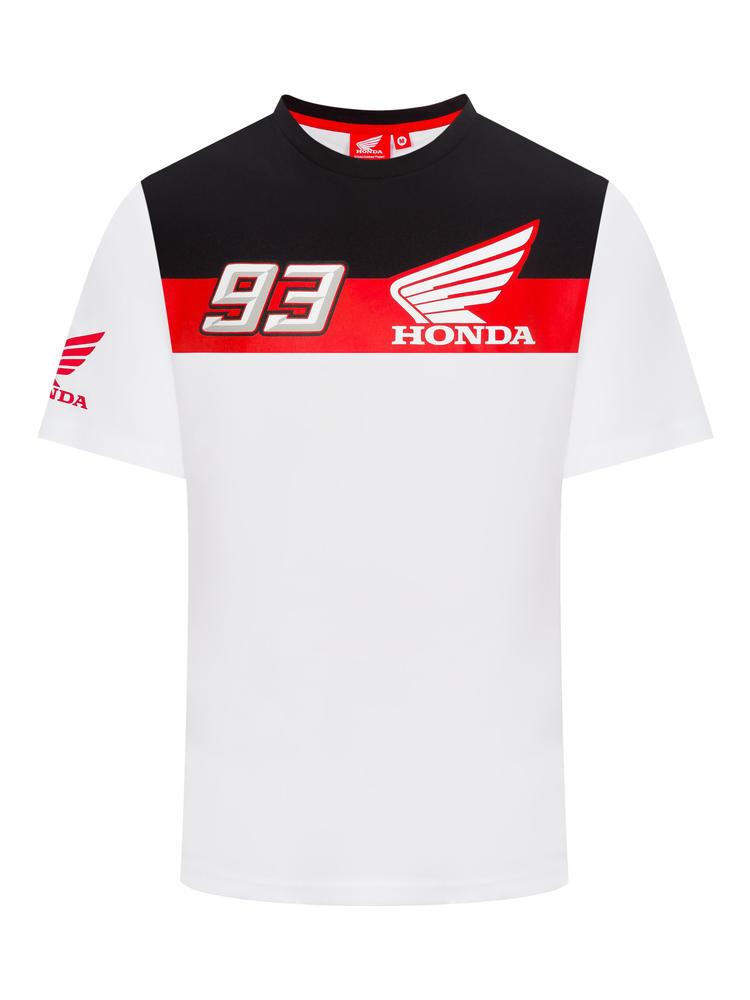 2019 Marc Marquez Men's #93 T-Shirt White Official Honda HRC MotoGP Merchandise