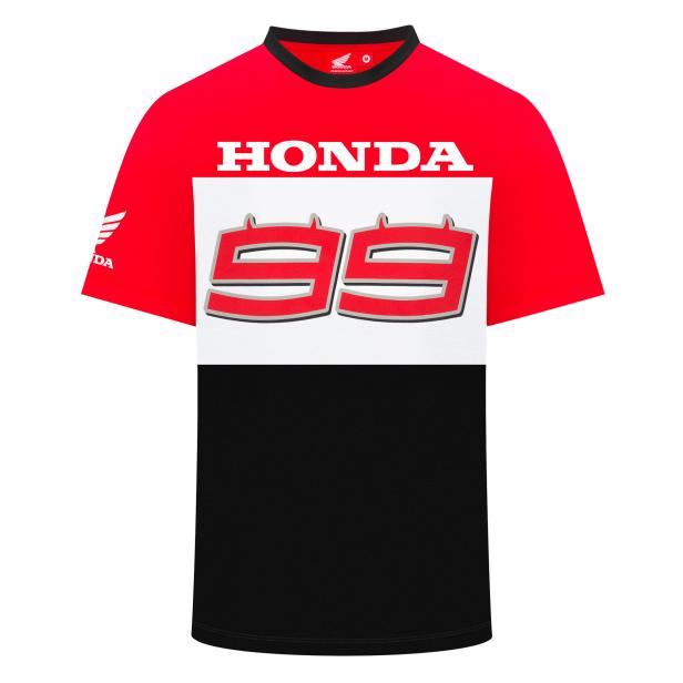 2019 Jorge Lorenzo Mens Team T-Shirt #99 Logo Official Honda MotoGP Merchandise