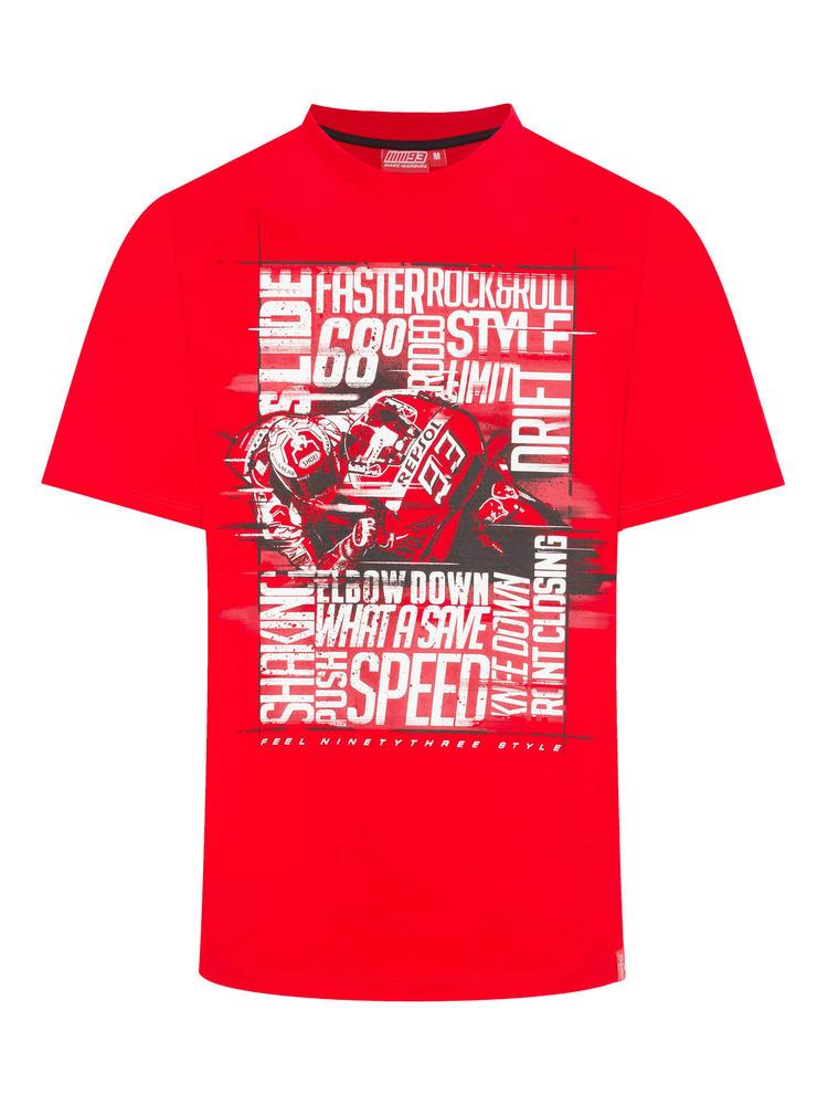 2019 Marc Marquez MotoGP Mens 93 T-Shirt White Photographic Words 100% Cotton