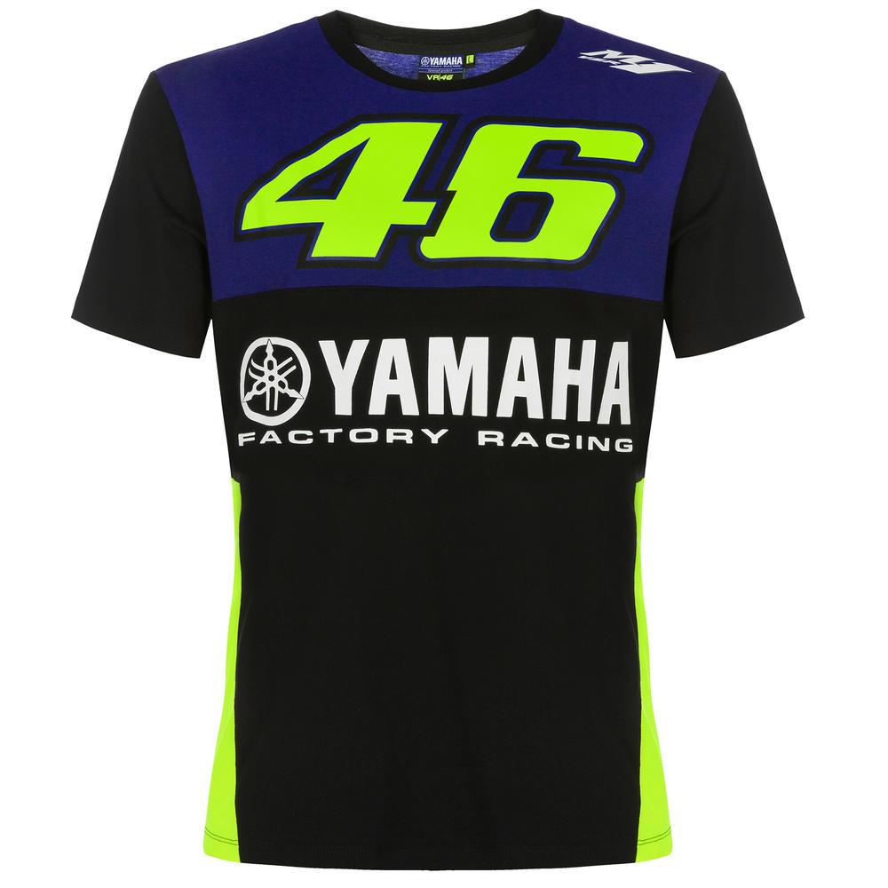 2019 Valentino Rossi VR46 Mens Rider T-Shirt Blue Yamaha Factory Racing MotoGP