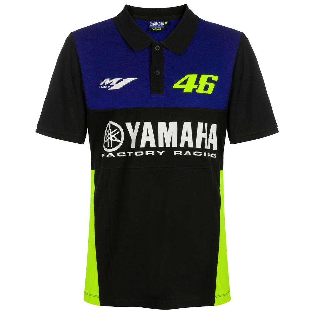 2019 Valentino Rossi Vr46 Mens Polo Shirt Official Yamaha Factory Racing Motogp Male Tifoso F1 Merchandise F1 Store