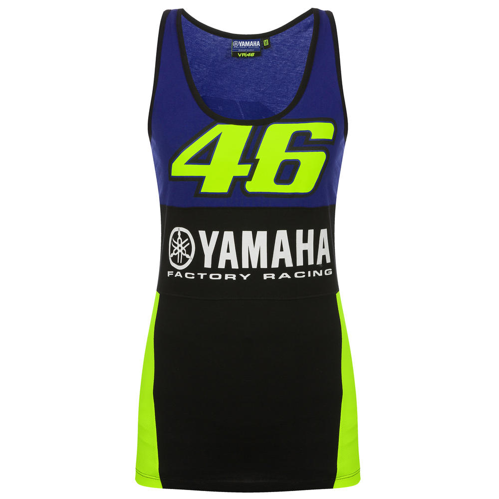 2019 Valentino Rossi VR46 Womens Tank Top Ladies Girl Vest Yamaha Factory Racing