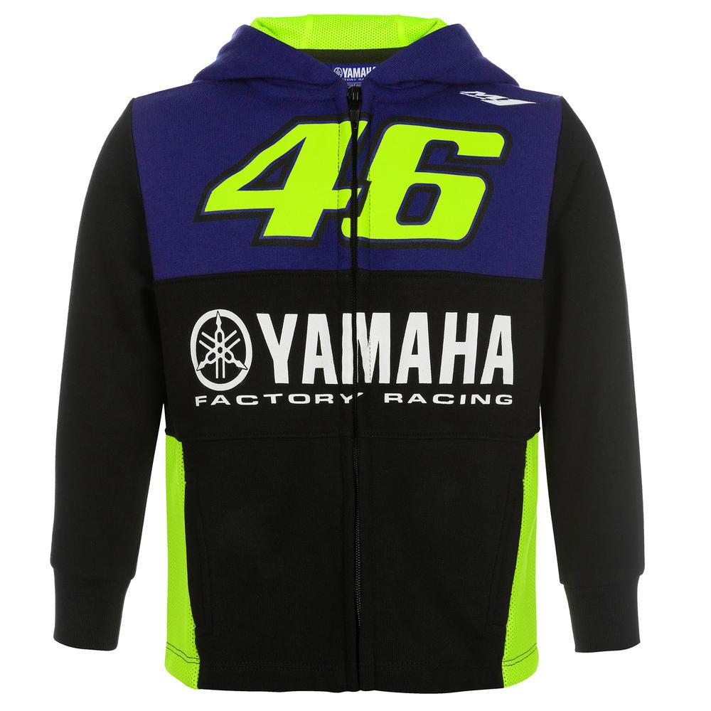 2019 Valentino Rossi VR46 Kids Hoodie Childrens Zip Hoody Yamaha Factory Racing